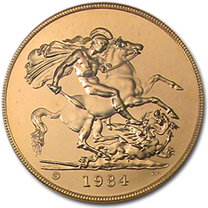 1984 Great Britain Gold £5 BU